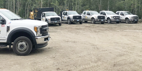 North Pole, Alaska-based BlackHawk Works operates a fleet of seven trucks, six F-series Ford...