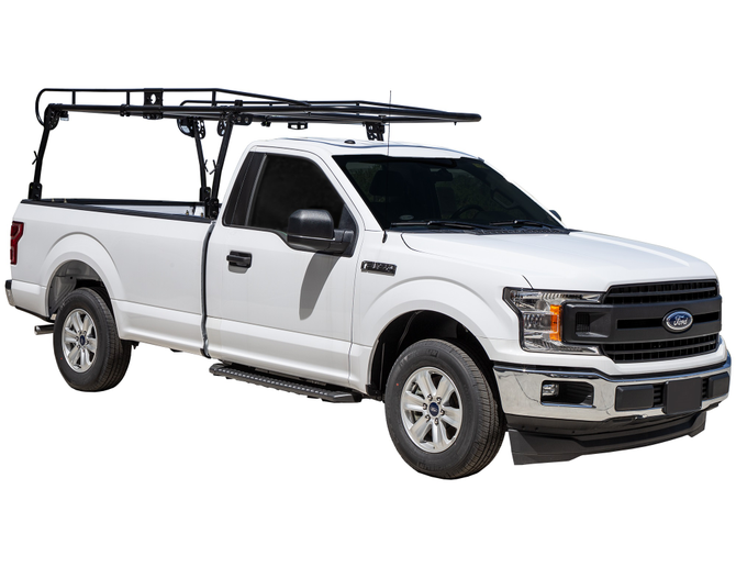 With long equipment or when more space is needed in the truck bed, a ladder rack may be the better choice.  -