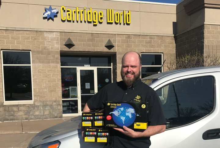 Josh Park of Cartridge World needed efficient routing for deliveries and to understand the exact location of his driver. A smartphone-based telematics solution fit the company's needs.  - Photo courtesy of Cartridge World.