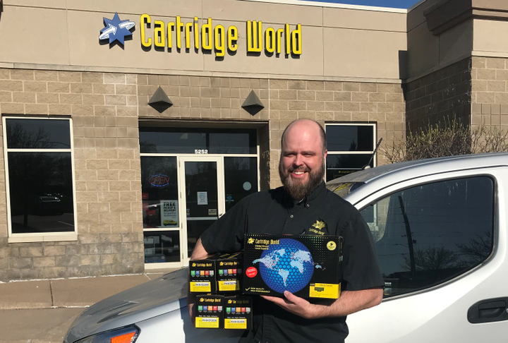 Josh Park of Cartridge World needed efficient routing for deliveries and tounderstand the exact location of his driver. A smartphone-based telematics solution fit the company's needs. - Photo courtesy ofCartridge World.