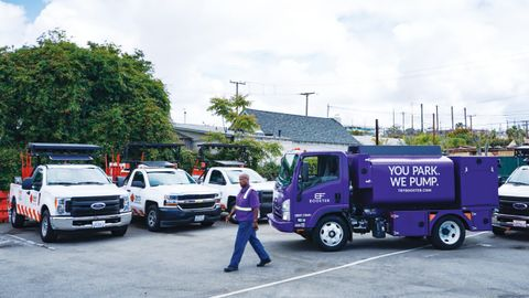 Booster's fuel trucks visit TMI's locations to fuel the company's fleet between shifts. The...