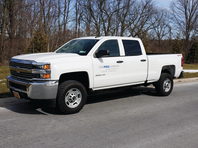 Last year, The Pike Companies Limited was approached by a GM corporate fleet representative on the Chevrolet Silverado, at which point the company started exploring the fleet management options offered by the dealer. Photo courtesy of Pike Companies Limited.