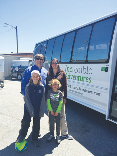 Brian Deninger and Jolie Ginsburg (with family) fuel their tour fleet with renewable diesel from Dogpatch Biofuels from their home base in San Francisco. On the road for longer trips, fleet drivers try to source B20 biodiesel fuel as much as possible.   - Photo courtesy of Incredible Adventures.