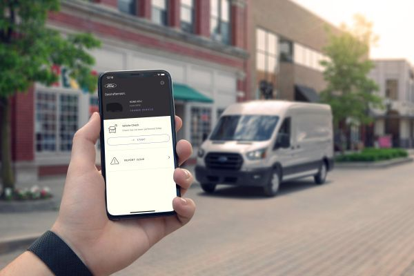 The Ford Telematics Drive app allows drivers to complete daily vehicle checks through a digital toggle switch that walks through a checklist. - Photo via Ford.