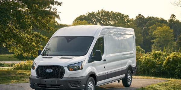 The exterior of the 2021-MY Ford Transit carries over from the previous model year, save for the...