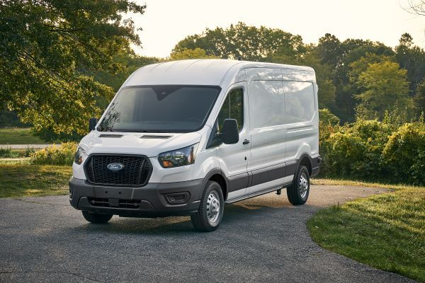 The exterior of the 2021-MY Ford Transit carries over from the previous model year, save for the honeycomb mesh grille, which is now standard on all Transit models. - Photo courtesy of Ford.