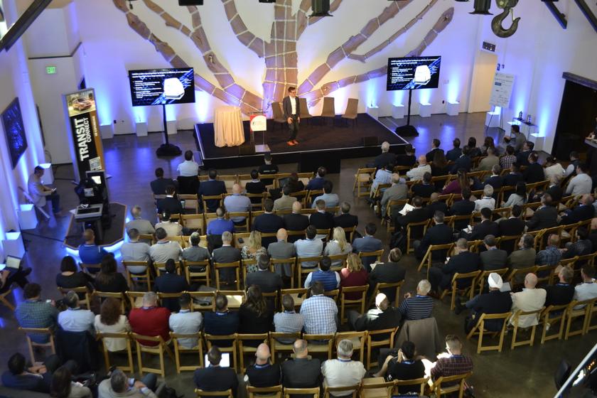 Nick Tempelhoff, head of Mercedes-Benz Vans Future Transportation North America, presented a...