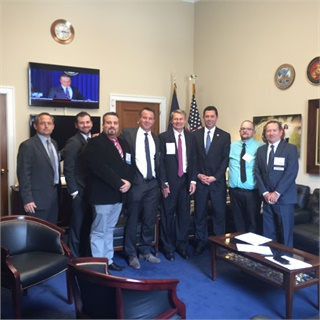 Our delegation visited the offices of U.S. Rep. Jason Chaffetz (R-Utah). Chaffetz explained the importance of face-to-face interaction to understand the issues. He said peer-to-peer issues would likely be taken up by the House Committee on Science, Space, and Technology.