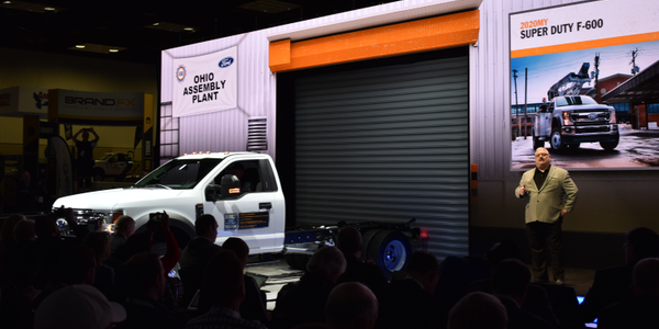 The new Ford F-600 chassis cab was introduced at the 2019 Work Truck Show. The F-600, along with...