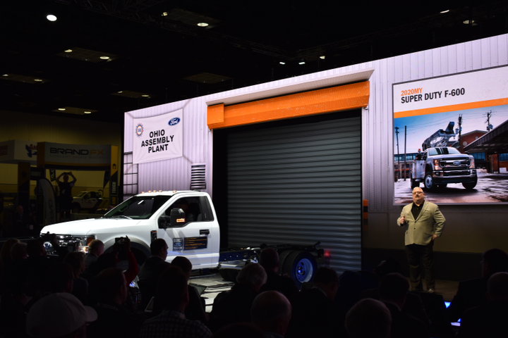 The new Ford F-600 chassis cab was introduced at the 2019 Work Truck Show. The F-600, along with other heavy duty and chassis cab models, follow the trend of offering capabilities above their vehicle class.