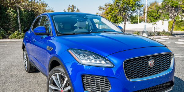 The 2018 Jaguar E-Pace is propelled by a 2.0-liter turbocharged four-cylinder engine that...