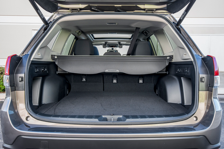 Subaru Forester's rear gate opening grew 5.3 inches to 51.2 inches — a bragging point against compact SUV competitors. - Photo by Kelly Bracken.