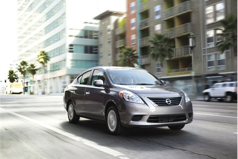 The 2012 Nissan Versa comes with six airbags, ABS, and a number of other safety features.