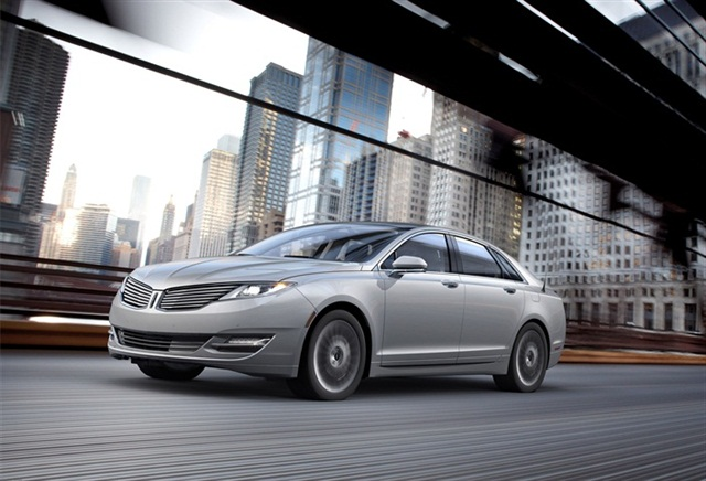 The 2013 Lincoln MKZ Hybrid.