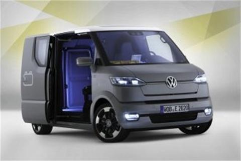 The all-electric Volkswagen eT!concept delivery van