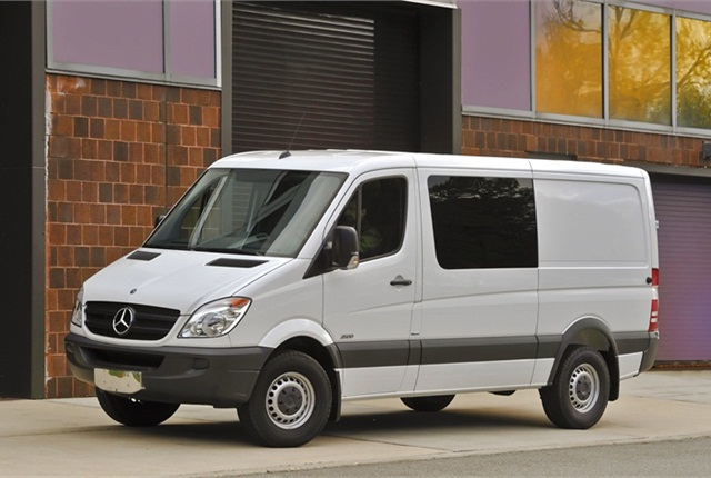 The 2011-MY Mercedes-Benz Sprinter Crew Van.