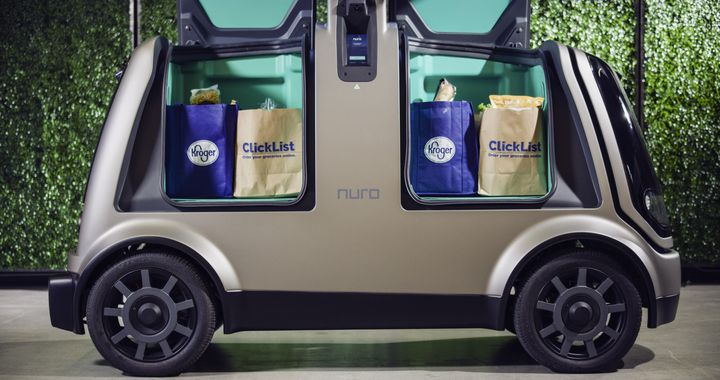 This is the first application and deployment of Nuro's hardware and software. The pilot market will be announced soon and is expected to begin this fall. - Photo courtesy of Kroger.