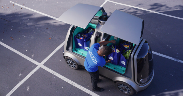 SinceAugust 2018, Kroger and Nuro have operated a popular, first-of-its-kind self-driving grocery delivery service inScottsdale, Ariz., servicing a single zip code with an autonomous vehicle fleet. - Photo via Nuro
