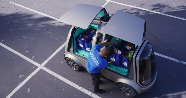Since August 2018, Kroger and Nuro have operated a popular, first-of-its-kind self-driving grocery delivery service in Scottsdale, Ariz., servicing a single zip code with an autonomous vehicle fleet. - Photo via Nuro