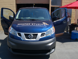 Nissan says that the NV200 is geared to small commercial/retail business such as this Southern...