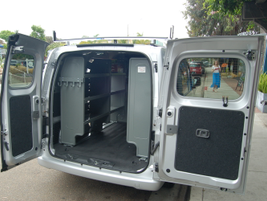Nissan has partnerships with large upfitters such as Adrian Steel and Leggett & Platt.