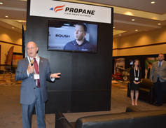Roy Wills, CEO of the Propane Education & Research Council (PERC), gives a presentation on the...