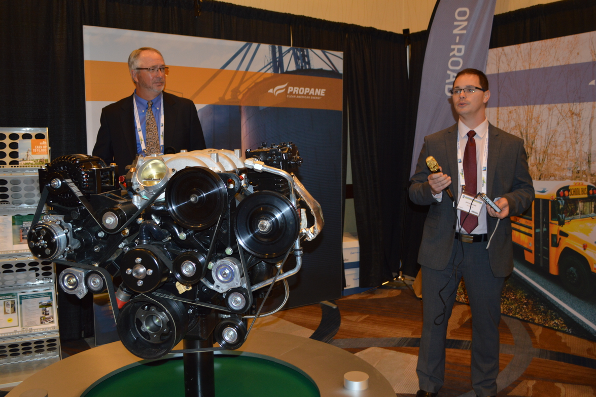 Michael Taylor, PERC's director of autogas business development (left), and Jeremy Lessaris,...