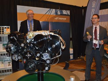 Michael Taylor, PERC's director of autogas business development(left), and Jeremy Lessaris,...