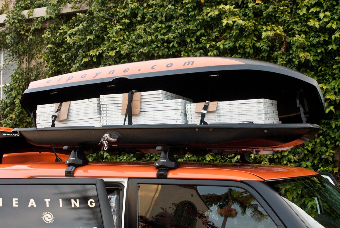 Cargo boxes were added to the roof to ease the storage burden.