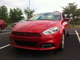 The performance-inspired front styling of the 2013 Dodge Dart.