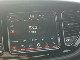 Chrysler's new 8.4-inch touchscreen in the Dodge Dart.