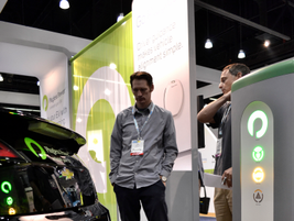 Plugless Power wireless charging system charging a Chevrolet Volt