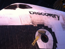 The event kicked off with dinner at the Smithsonian Air and Space Museum annex next to Dulles...