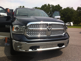 The new, more aerodynamic front end of the 2013 Ram 1500.