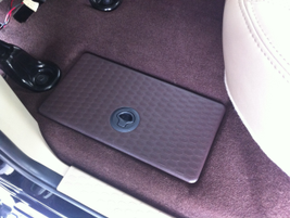 One of two insulated rear seat storage bins in the 2013 Ram 1500.