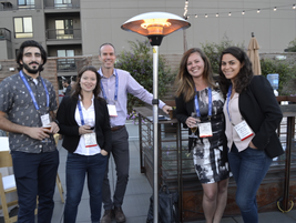 Christofer Kazanchyan of Mercedes-Benz, Claire Alleaume of Trak GlobalGroup, Greg Buckland and...