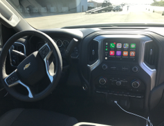 Infotainment on the 2019 Chevrolet Silverado 1500 includes Apple CarPlay and Android Auto...