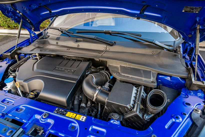 The E-Pace is offered intwo four-cylinder turbochargedgasoline engine options producing 246hp...
