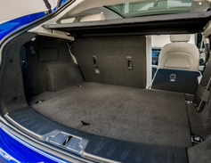 The E-Pace offers 52.7 cubic feet of cargo voluem with the rear seats folded down.