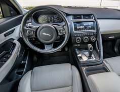 The wraparound cockpit echoes Jaguar's F-Type sports car appointments, including an elevated...