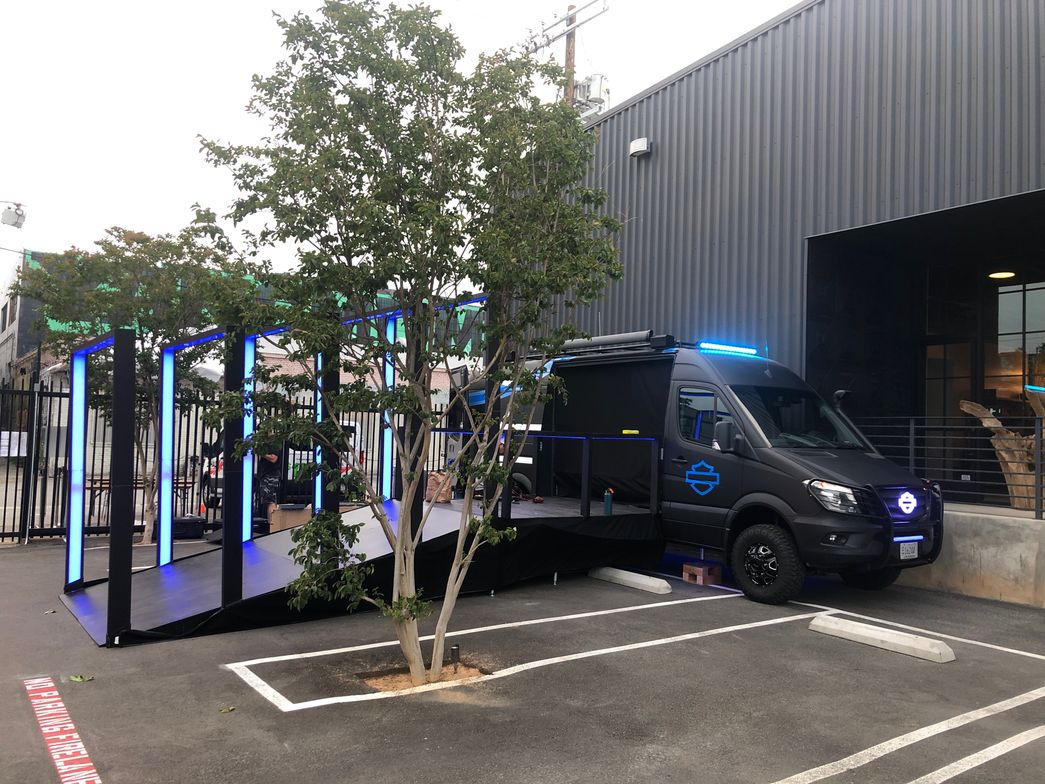 """This custom-designed 2017 Mercedes Sprinter helps Harley Davidson take its """"show on the road.""""..."""