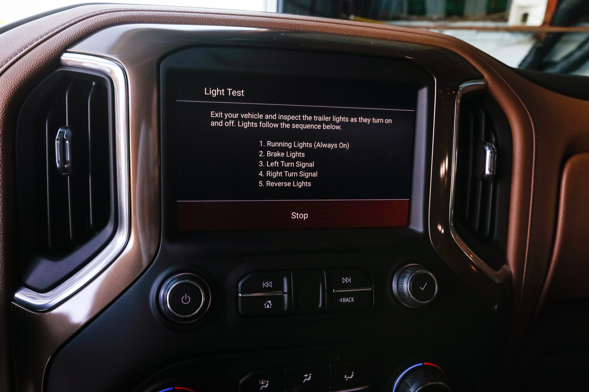 The light test allows users to test the lights on a trailer that is being towed and alerts the...