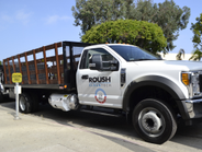 Roush's propane autogas Ford F-550 stake bed features a 1,600-pound liftgate load capacity with...