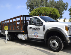 Roush's propane autogasFord F-550 stake bed features a 1,600-pound liftgate load capacity with...