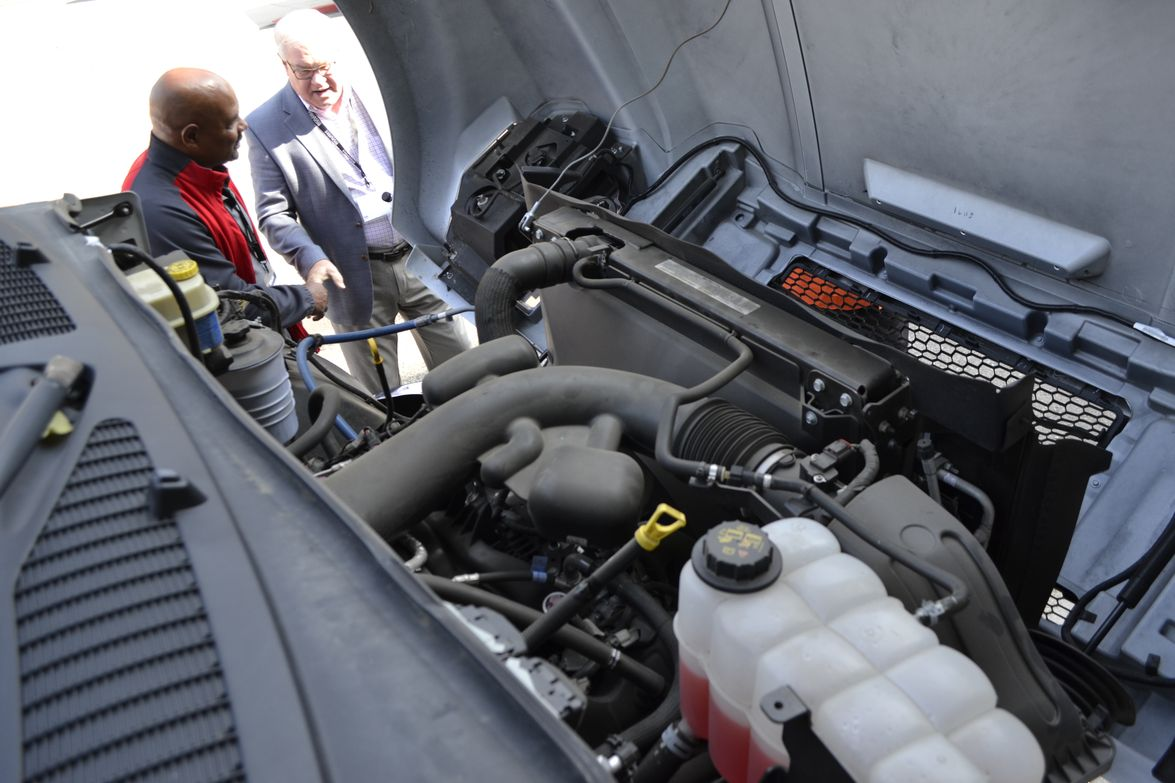 A closer look under of the hood of the F-750. In addition to the environmental impact of these...