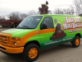 In 2009, theTuff Turffleetreceived a logo makeoverand added the 3D mole. The company still...