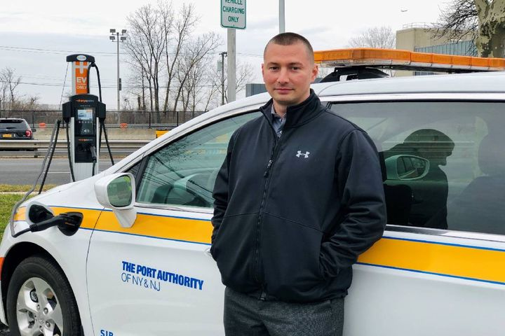 "James Hineson, the general maintenance supervisor for Central Automotive Division of the Port Authority of New York and New Jersey, says the authority contacted agencies with neighboring fleets and learned the ins and outs of EVs while researching their feasibility. ""It's simple to join groups and reach out to cities and get some positive and negative experiences to learn from."" - Photo: Port Authority of New York and New Jersey"