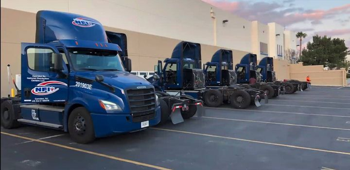 The eCascadia all-electric heavy duty truck is lined up and ready for fleet service. Fleet managers acquiring electric vehicles need to be making detailed long-term plans and calculations for electrification, a recent study explains. - Photo: Daimler Trucks North America