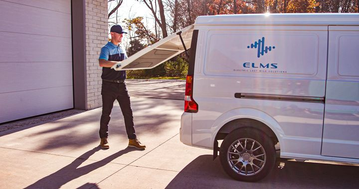 ELMS says it has seen overwhelming interest in its all-electric Class 1 Urban Delivery van that has a range of about 150 miles. - Photo: ELMS