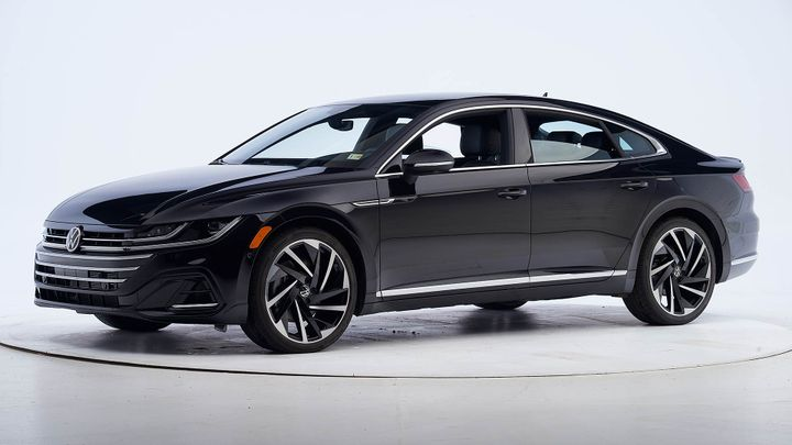 The Arteon was put through the paces, undergoing six rigorous crashworthiness tests and earning good ratings across the board. - Photo via IIHS.
